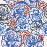 Fashion rose pattern in vintage  style design Stock Image