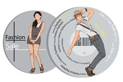 Fashion Sale. Easy to edit vector illustration of people in fashion sale poster stock illustration