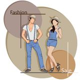 Fashion Sale. Easy to edit vector illustration of people in fashion sale poster vector illustration