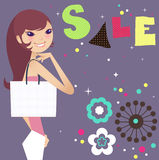 Fashion sale. And fashion beauty vector illustration