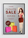 Fashion Sale Flyer or Banner. royalty free illustration