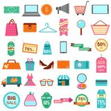 Fashion and Sale Icon Royalty Free Stock Images