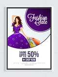 Fashion Sale Poster, Banner or Flyer Design. Royalty Free Stock Image