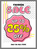 Fashion Sale Poster, Banner or Flyer Design. Stock Photography