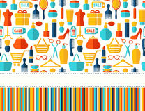 Fashion, sale and shopping background Royalty Free Stock Photography