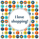 Fashion, sale and shopping background Royalty Free Stock Photos