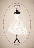 Fashion salon. wedding dress, wedding. illustration Royalty Free Stock Image