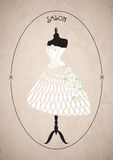 Fashion salon. wedding dress, wedding.vector illustration Royalty Free Stock Photos