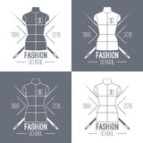 Fashion school emblem Stock Image