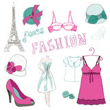 Fashion Scrap Elements - for your design Stock Image