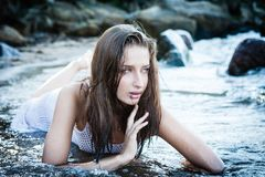 Fashion in the sea Stock Images