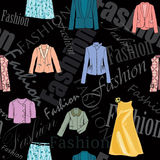 Fashion seamless background Stock Images