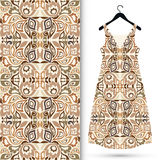 Fashion seamless geometric pattern, women's dress Royalty Free Stock Photography