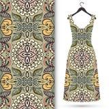 Fashion seamless geometric pattern, women's dress Royalty Free Stock Image