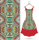 Fashion seamless geometric pattern, women's dress Royalty Free Stock Photos
