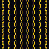 Fashion seamless pattern golden chain Royalty Free Stock Photography