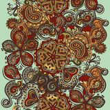 Fashion seamless wallpaper with ornament in Indian style Stock Image