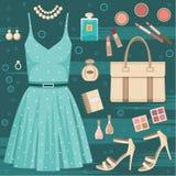 Fashion set Stock Illustration