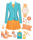 Fashion set Stock Images