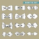 Fashion set with  bow tie. Set of monochrome bow tie .Hipsters fashion.Fashion illustration Stock Photo