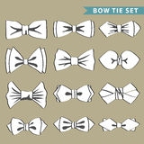 Fashion set with  bow tie Royalty Free Stock Photo
