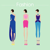 The fashion set and design.illustration royalty free stock photography