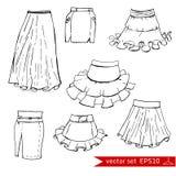 Fashion set. Graphic style stock illustration