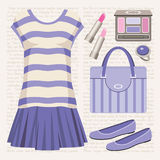 Fashion set with a top and a skirt. Stock Photo