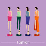 The fashion set and vector design.illustration Royalty Free Stock Photo