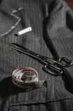 Fashion sewing. Sewing and tailoring tools for the manufacture of clothing Royalty Free Stock Image