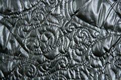 Fashion sewn nylon imitatingem bossed black Royalty Free Stock Images