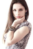 Fashion sexy girl with bangle on hand Royalty Free Stock Images