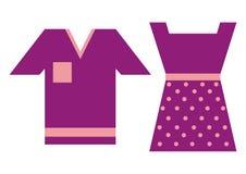 Fashion, shirt and dress Stock Photography