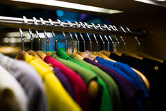 Fashion shirts in colors Royalty Free Stock Photography