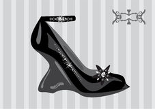 Fashion shoe. Chic couture fashion shoe  vector Stock Image
