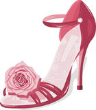 Fashion shoe. Chic couture fashion shoe  vector Royalty Free Stock Photography