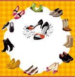 Fashion  shoe card Stock Image