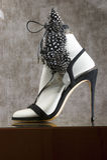 Fashion shoe. Display mall retail shopping luxury gift window showroom Royalty Free Stock Photo