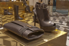 Fashion shoe. Shoe fashion retail shopping store elegance Stock Image
