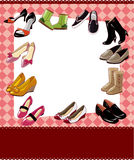 Fashion shoe sale card Royalty Free Stock Images