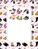 Fashion shoe sale card Royalty Free Stock Photos