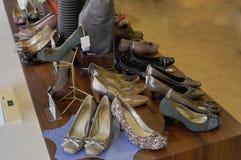 Fashion Shoe shop. Picture of women's shoe shop in a premium outlet Stock Photos