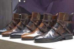 Fashion shoe showcase display shopping retail. Luxury stock image