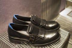 Fashion shoe showcase display shopping retail. Fashion luxury showcase display shopping retail royalty free stock photos