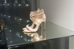 Fashion shoe  showcase display shopping retail. Fashion luxury  showcase display shopping retail Stock Images
