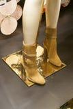 Fashion shoe  showcase display shopping retail Royalty Free Stock Images