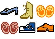 Fashion shoes. 6 set illustration Royalty Free Illustration