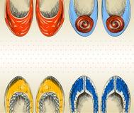 Fashion  shoes. Trendy fashion  shoes.  Fashionable Hand drawn illustration Royalty Free Stock Photos