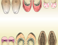 Fashion  shoes. Fashionable shoes for the whole family Royalty Free Stock Images