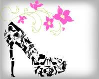 Fashion shoes background Stock Photo